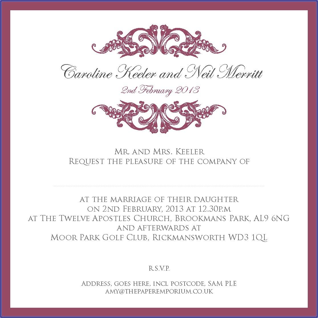 Sam's Club Wedding Invitation Sets