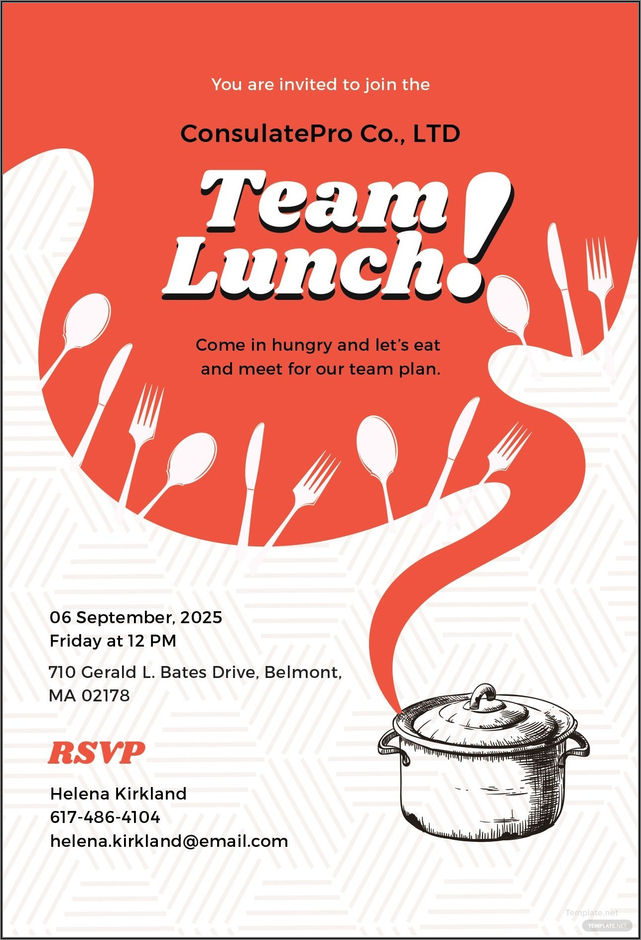Team Dinner Invitation Sample Email