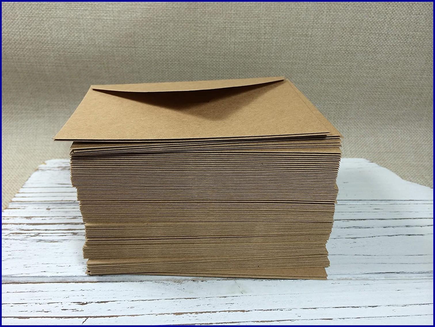 Thank You Card Envelopes Size