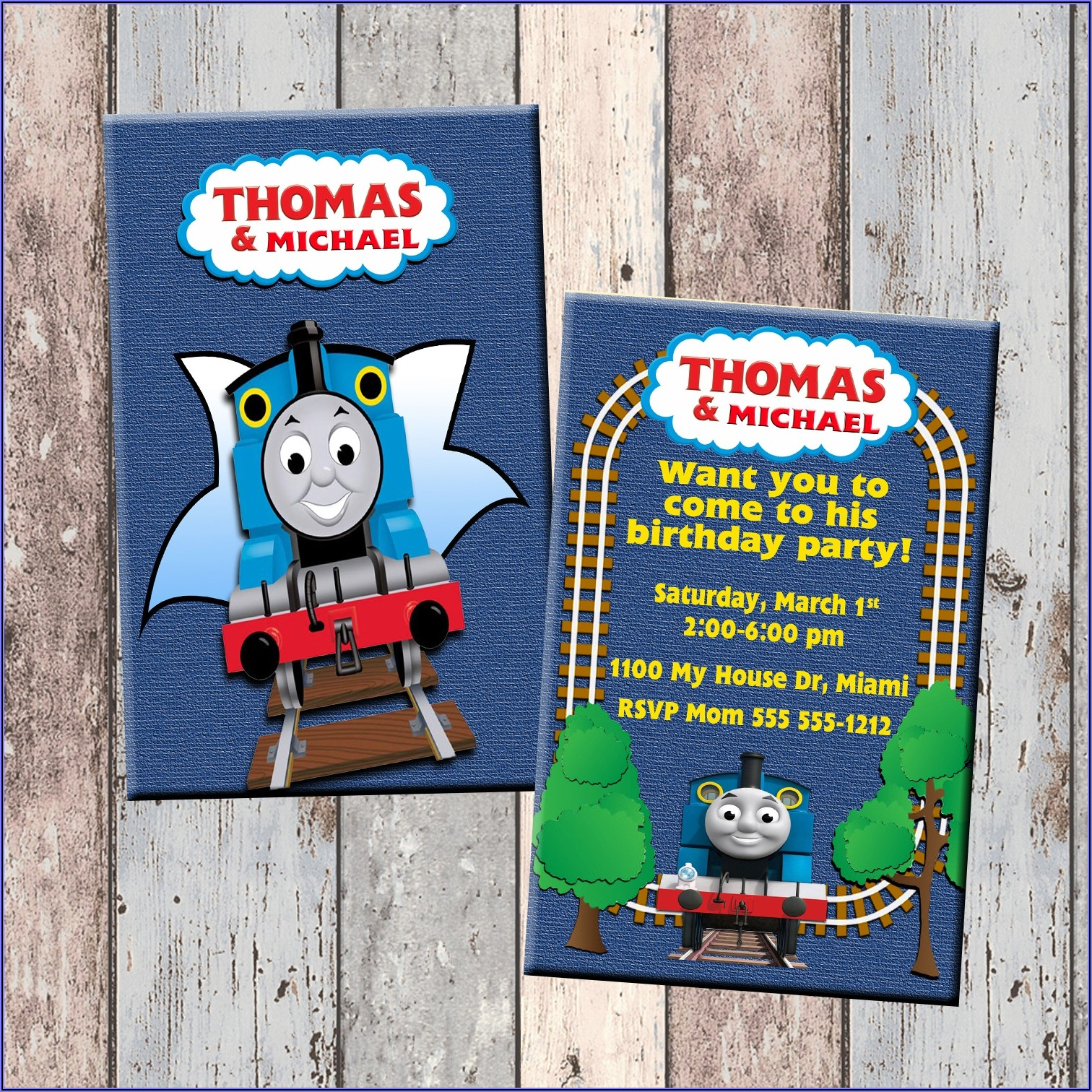 Thomas The Train Evite Invitations