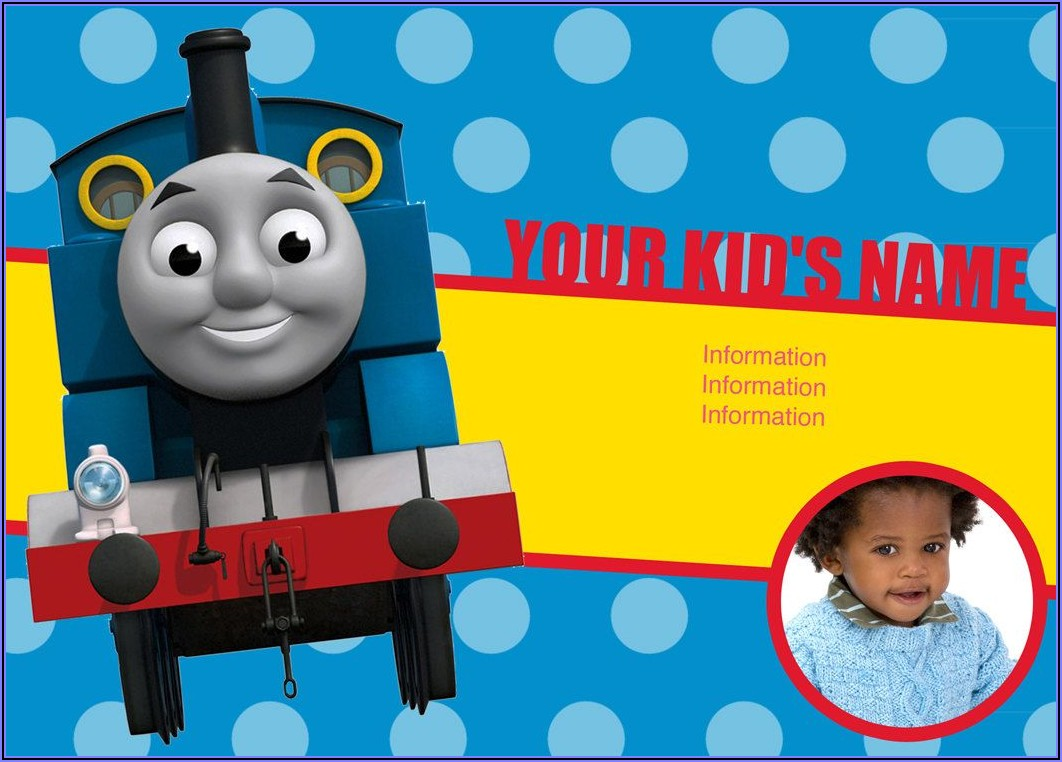 Thomas The Train Invitations Personalized