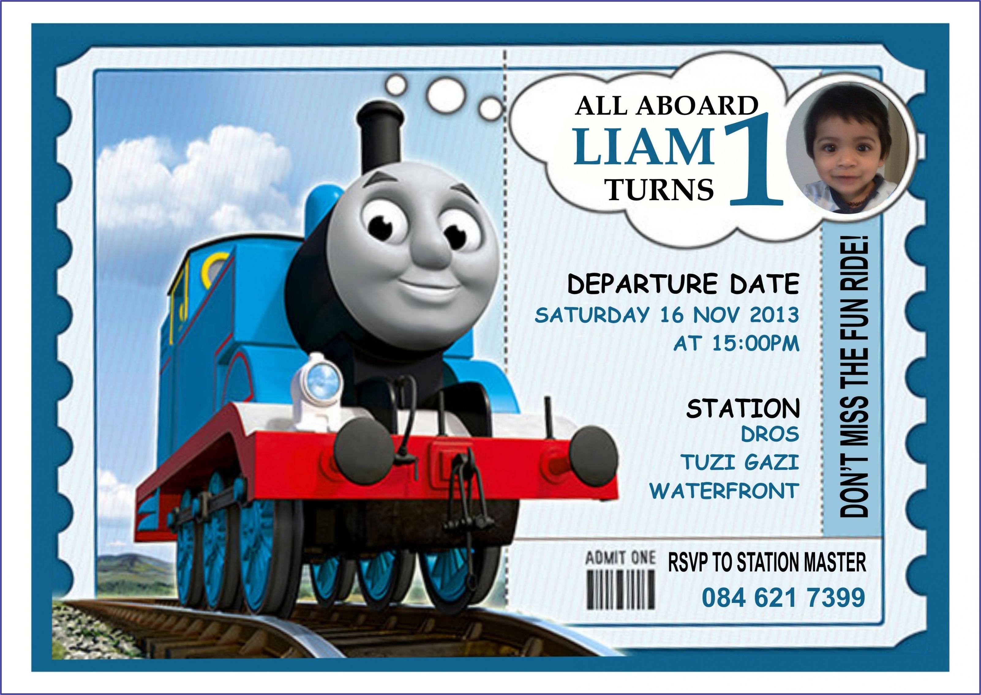 Thomas The Train Online Invitations