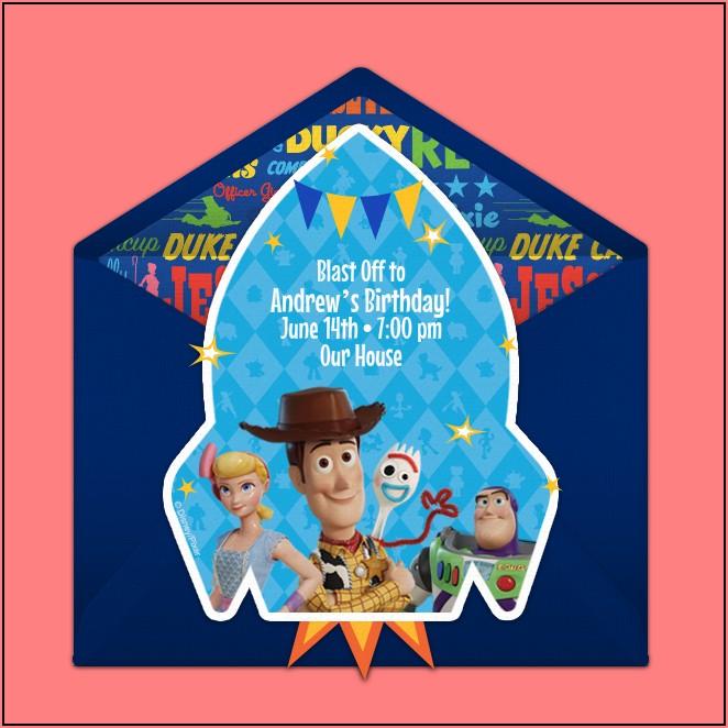 Toy Story 4 Birthday Invitations Free