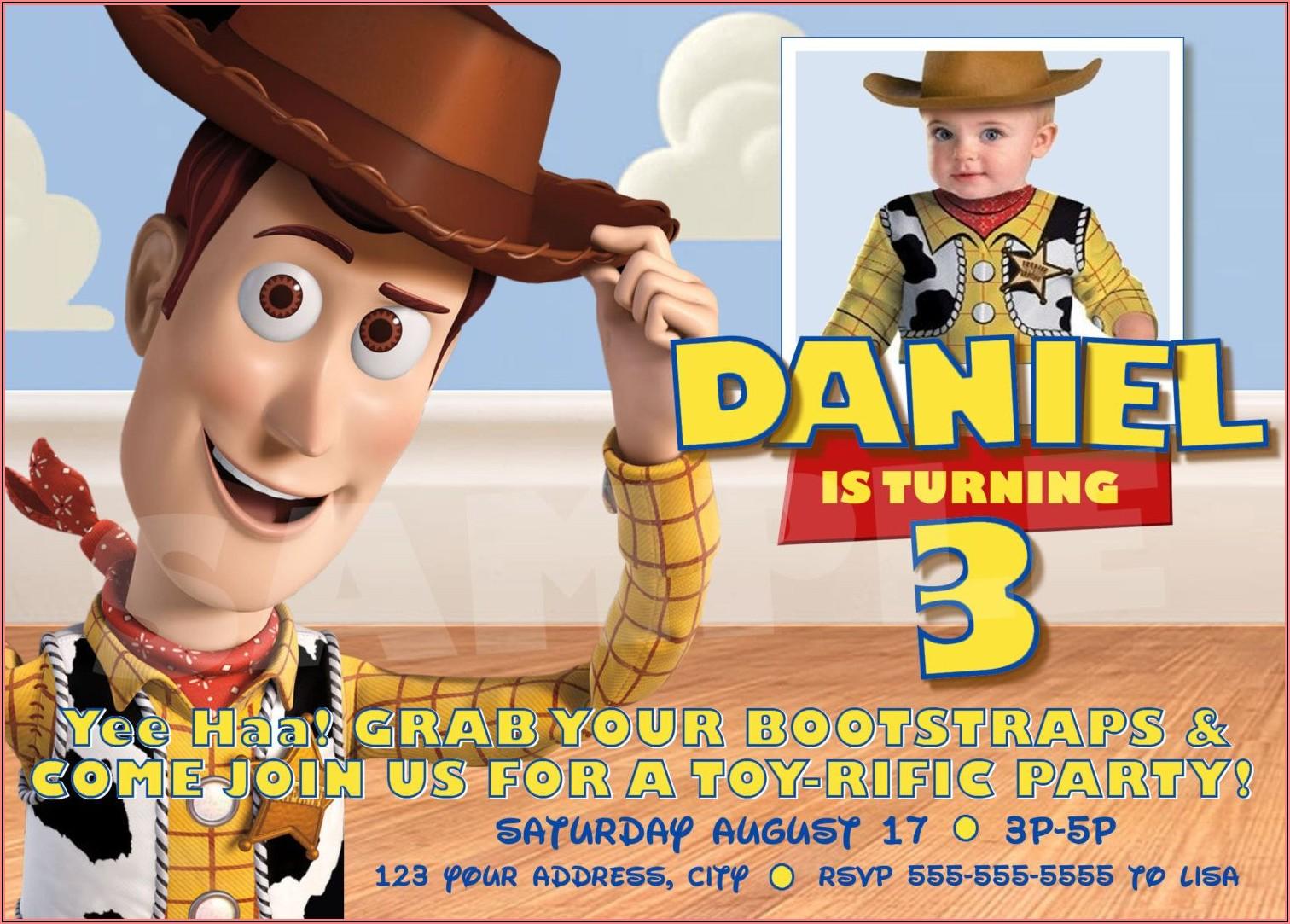 Toy Story Birthday Invitations Digital