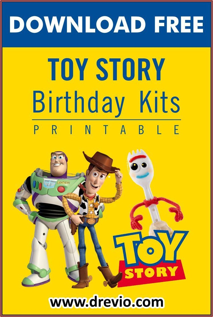 Toy Story Birthday Invitations Template