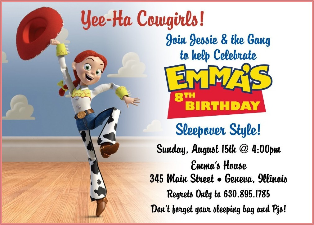 Toy Story Party Invitations Free