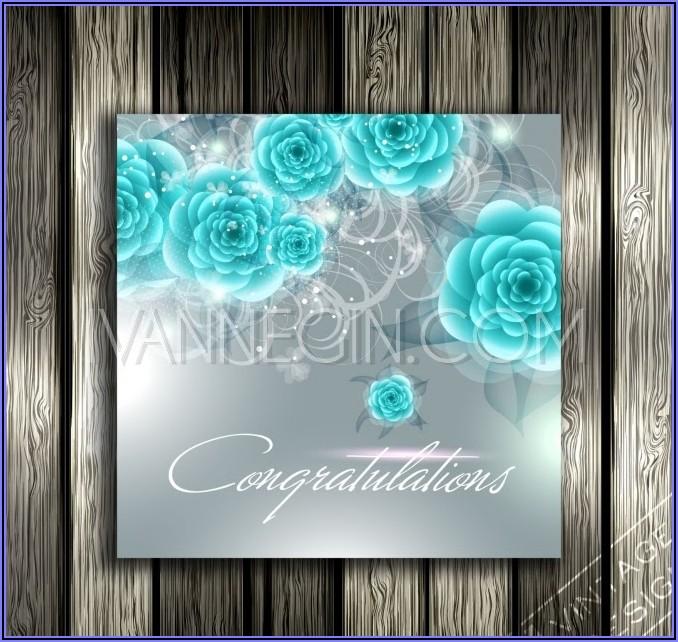 Turquoise Blue Wedding Invitation Background