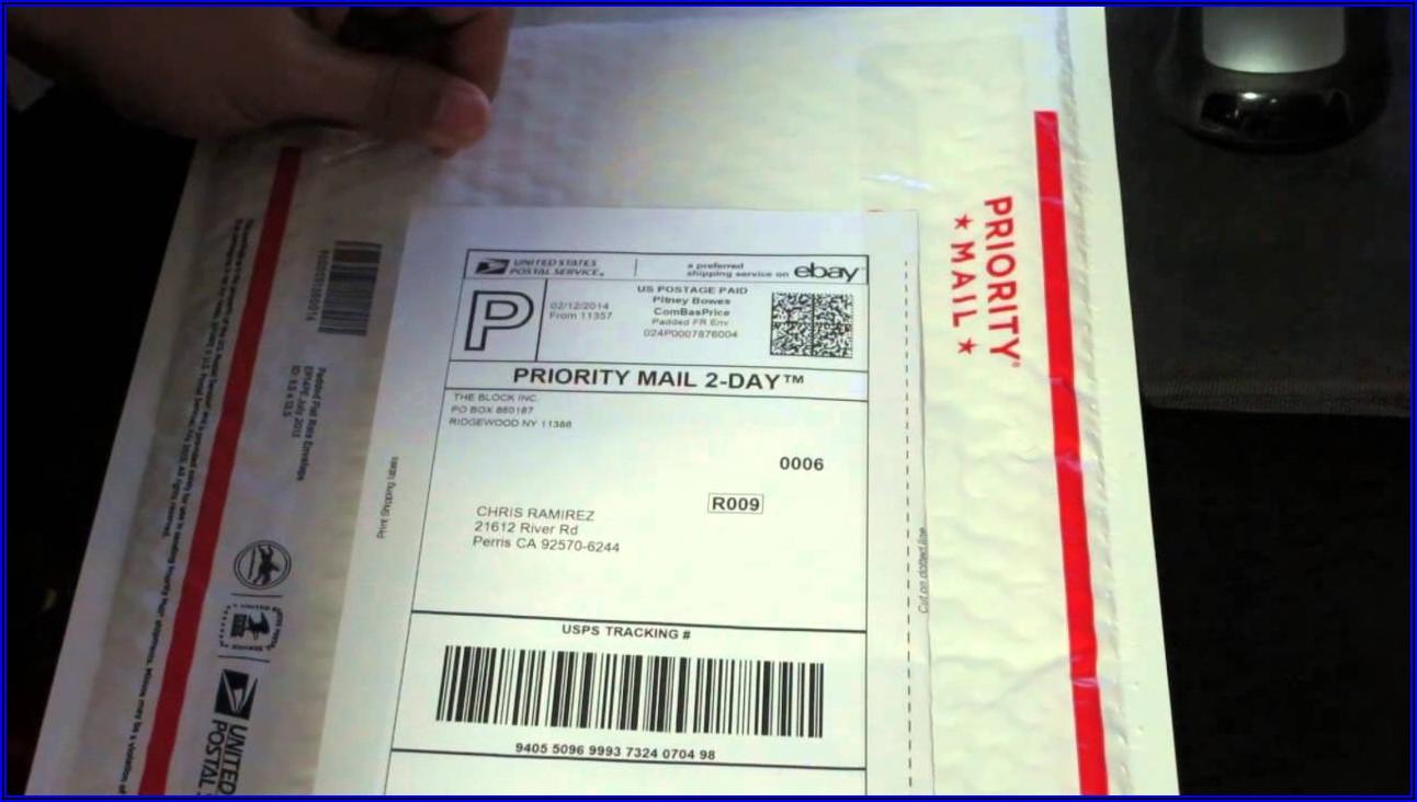 Usps Flat Rate Envelope Shipping Label