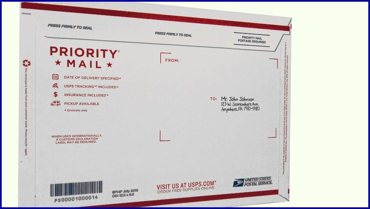Usps Flat Rate Mailing Envelope Instructions