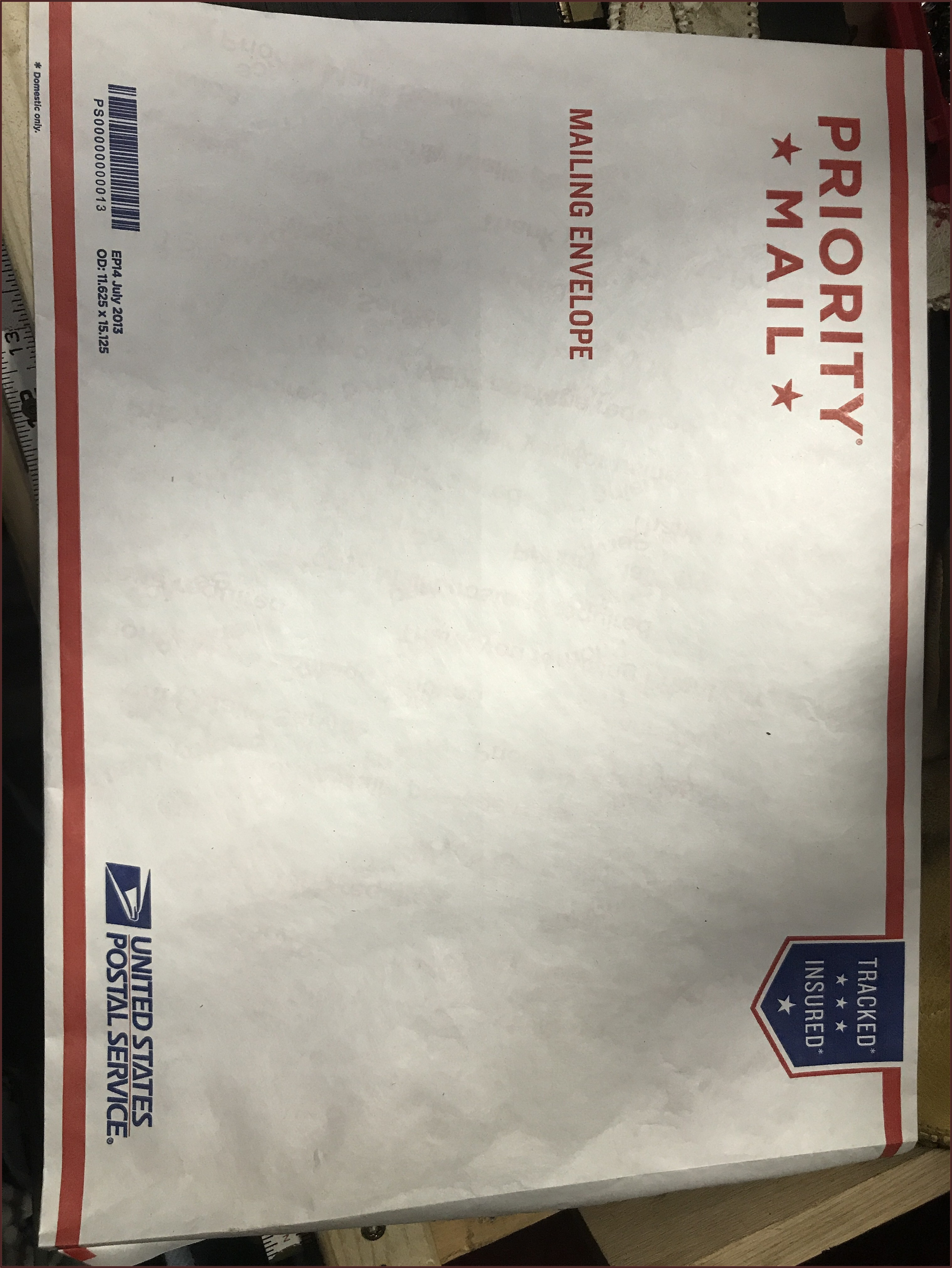 Usps Priority Mail Flat Rate Envelope 11.625 X 15.125