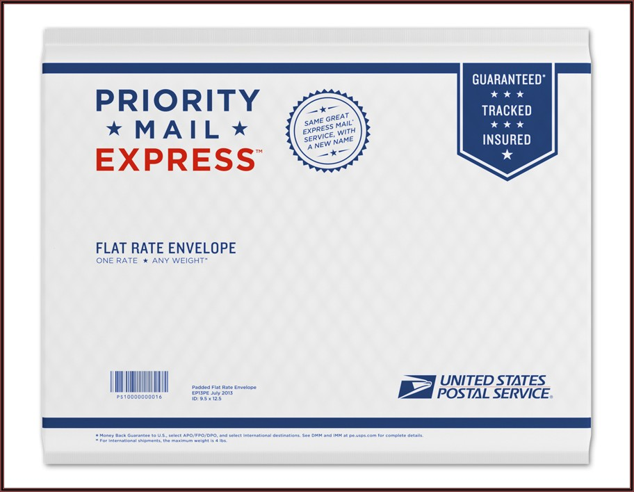 Usps Priority Mail International Flat Rate Envelope Size