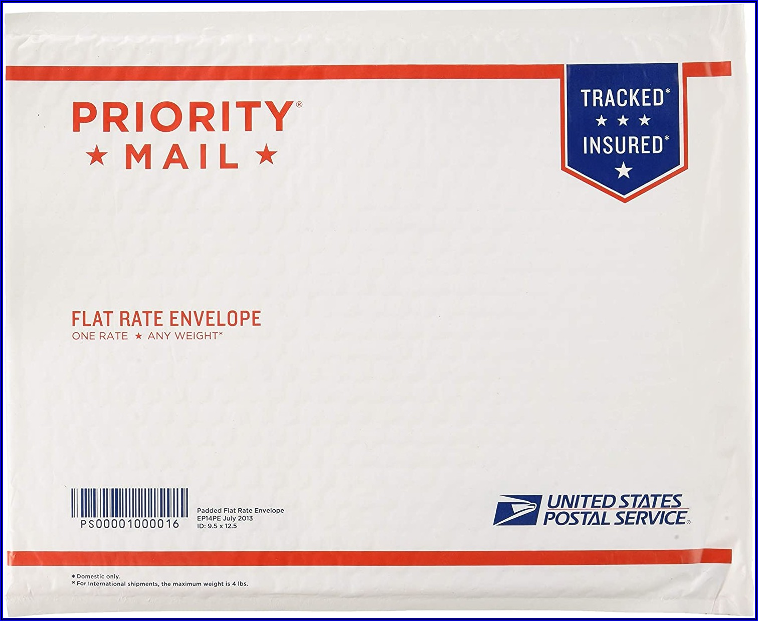 Usps Priority Mail Padded Flat Rate Envelope Size