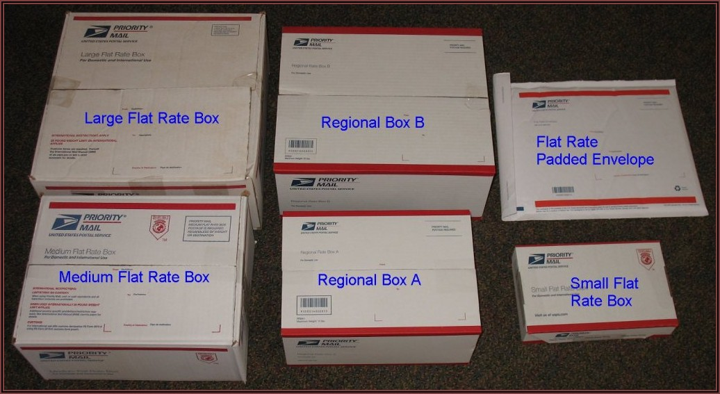 Usps Priority Shipping Boxes Sizes