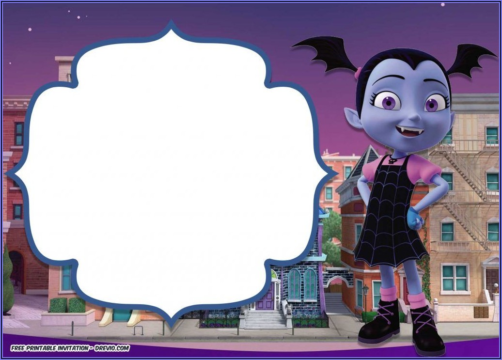 Vampirina Birthday Invitations Printable
