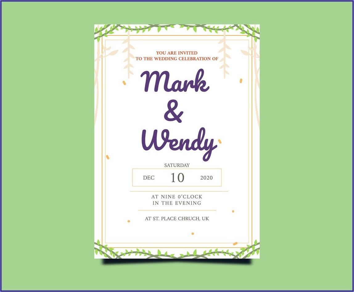 Wedding Invitation Background Vector