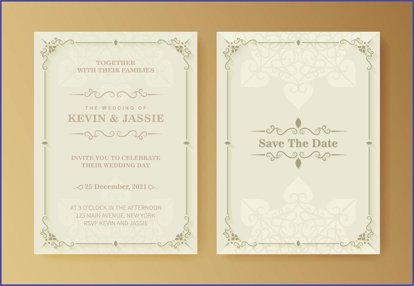 Wedding Invitation Background White