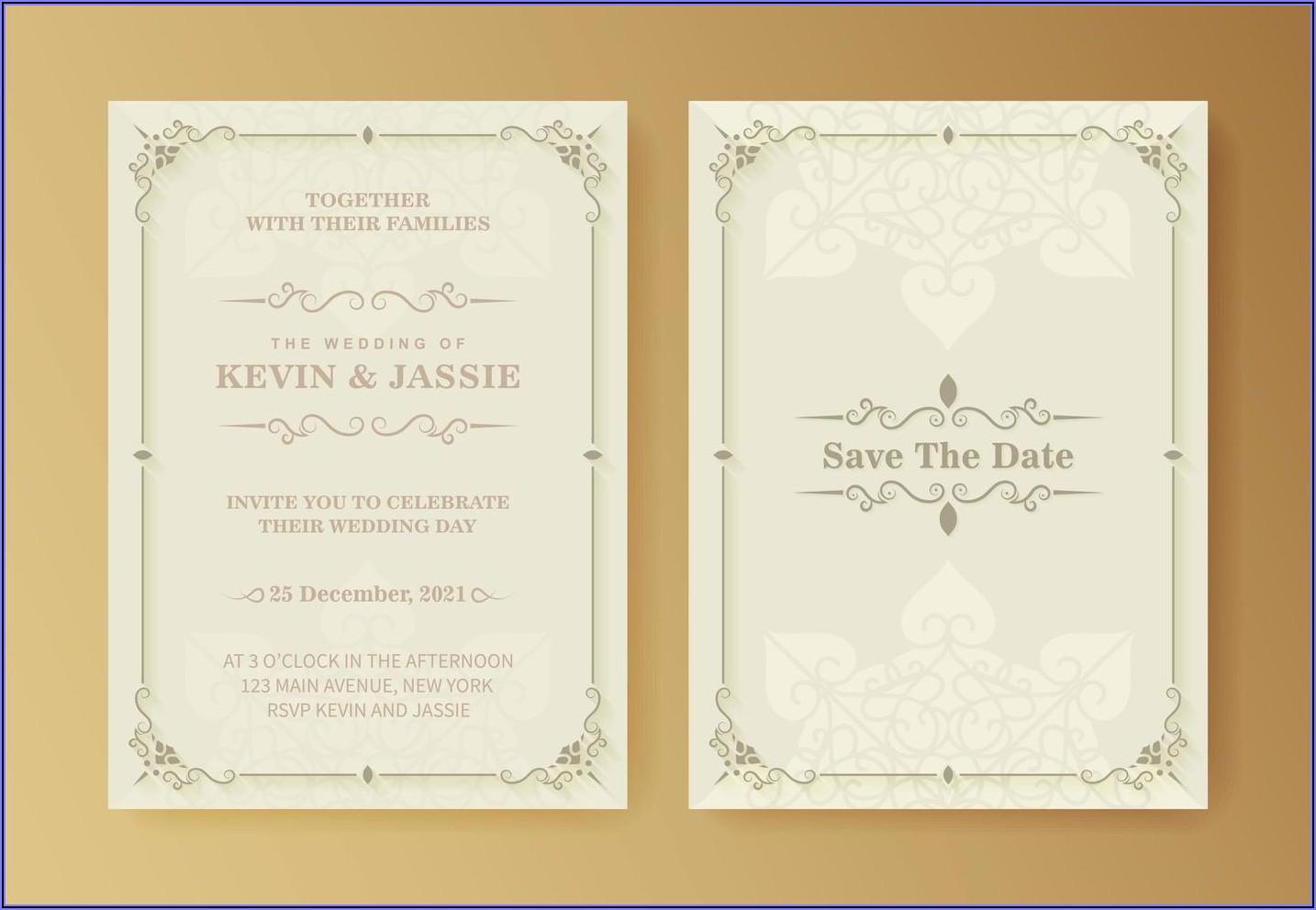 Wedding Invitation Background White