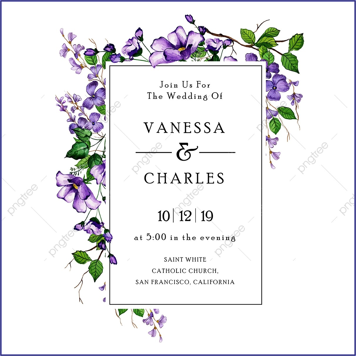 Wedding Invitation Card Background Png