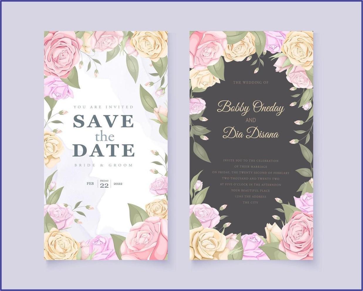 Wedding Invitation Card Design Free Download
