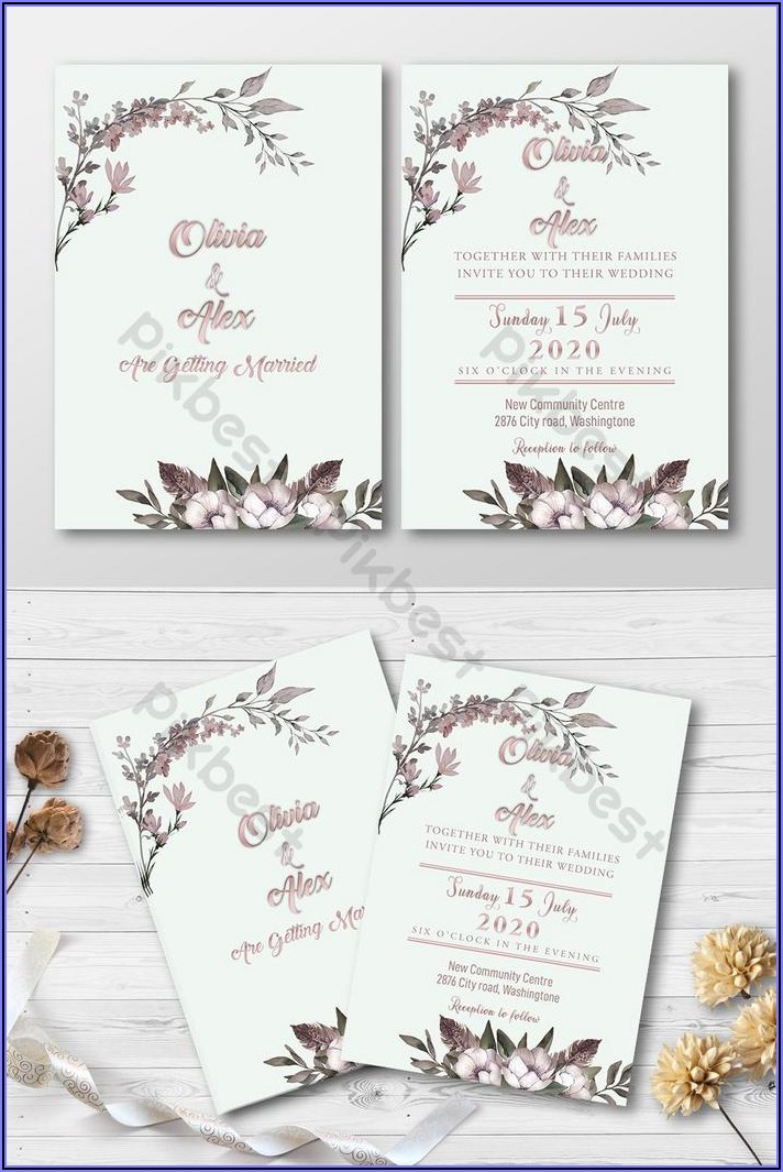 Wedding Invitation Card Psd Free Download