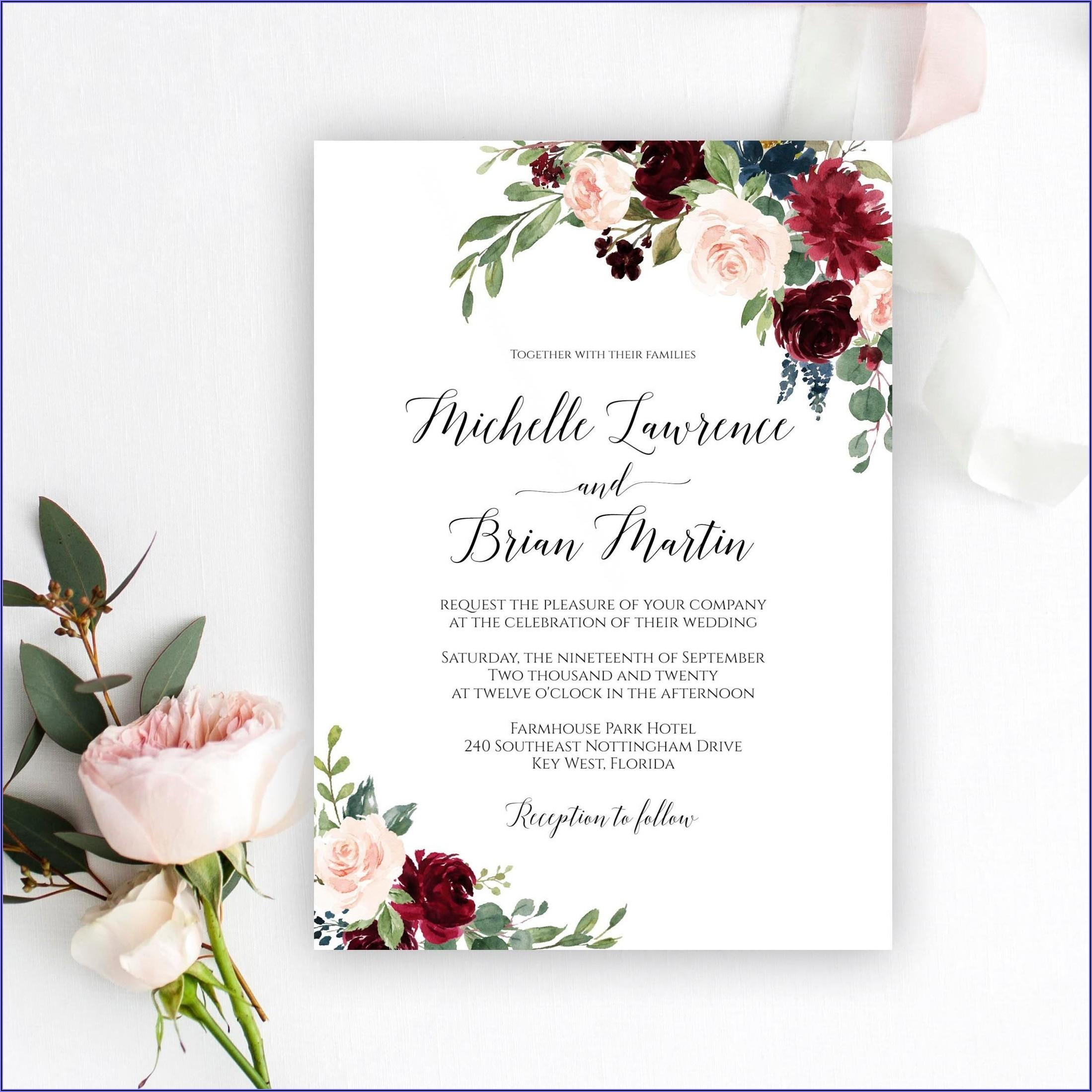 Wedding Invitation Card Templates Free Download