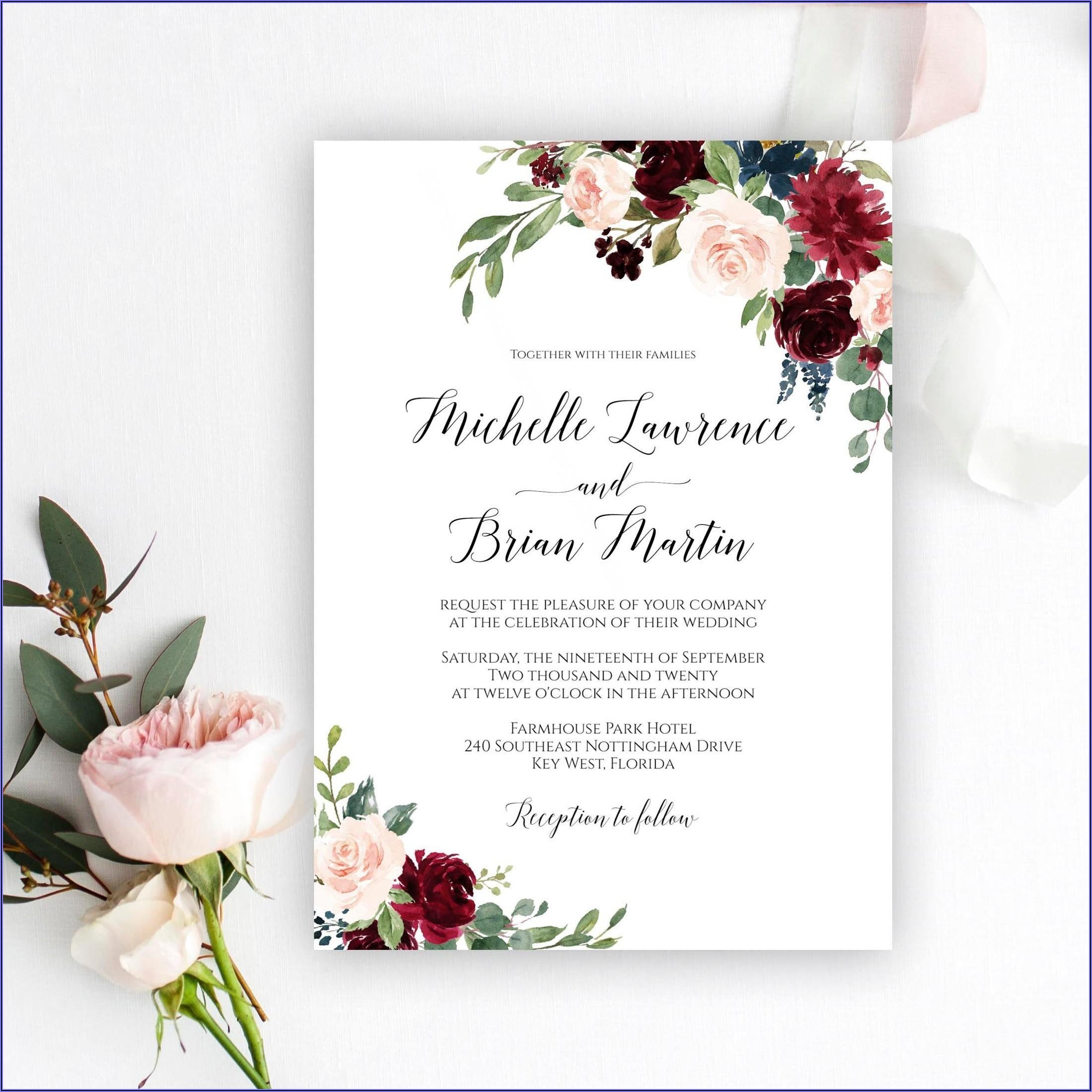Wedding Invitation Card Templates Free Download
