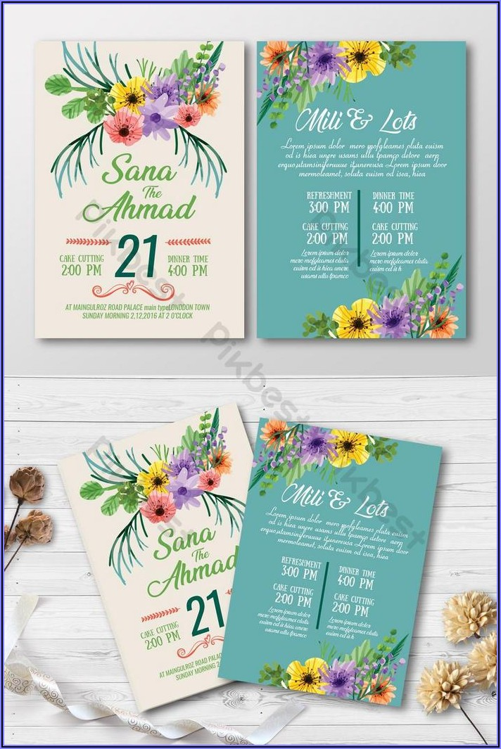 Wedding Invitation Design Free Download