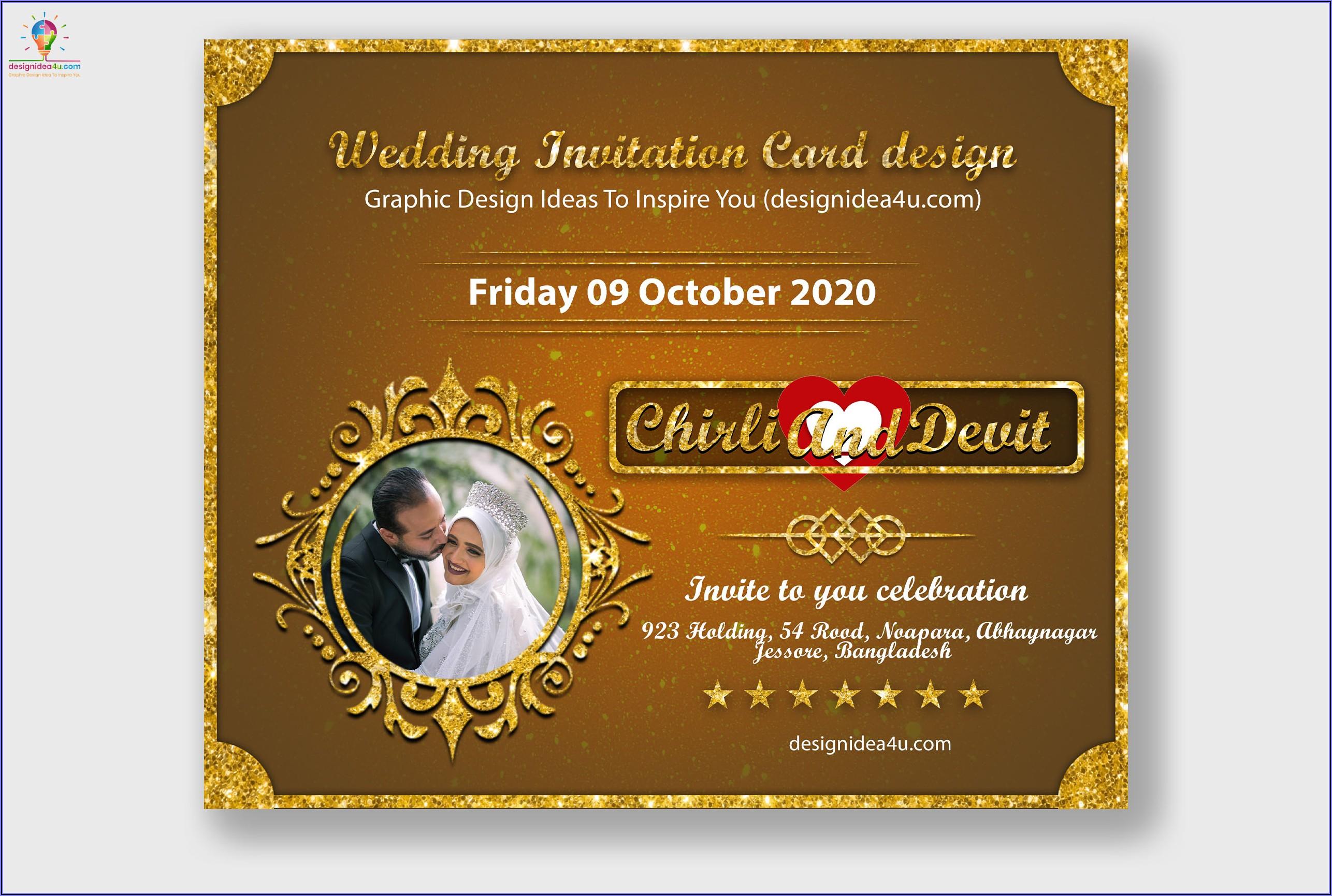 Wedding Invitation Design Psd Free Download