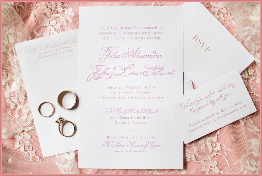 Wedding Invitation Wording Etiquette Divorced Parents