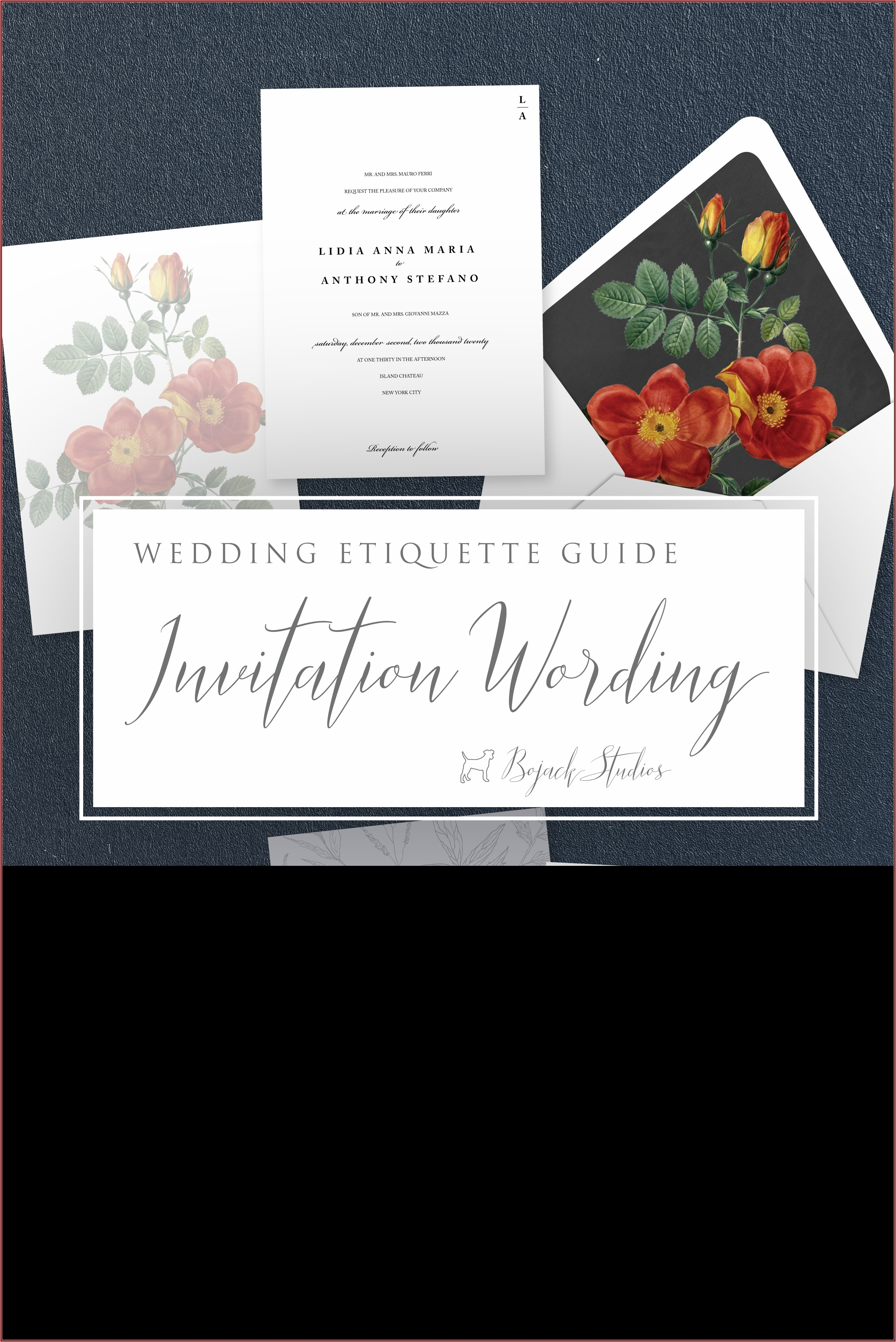 Wedding Invitation Wording Etiquette For Deceased Parent