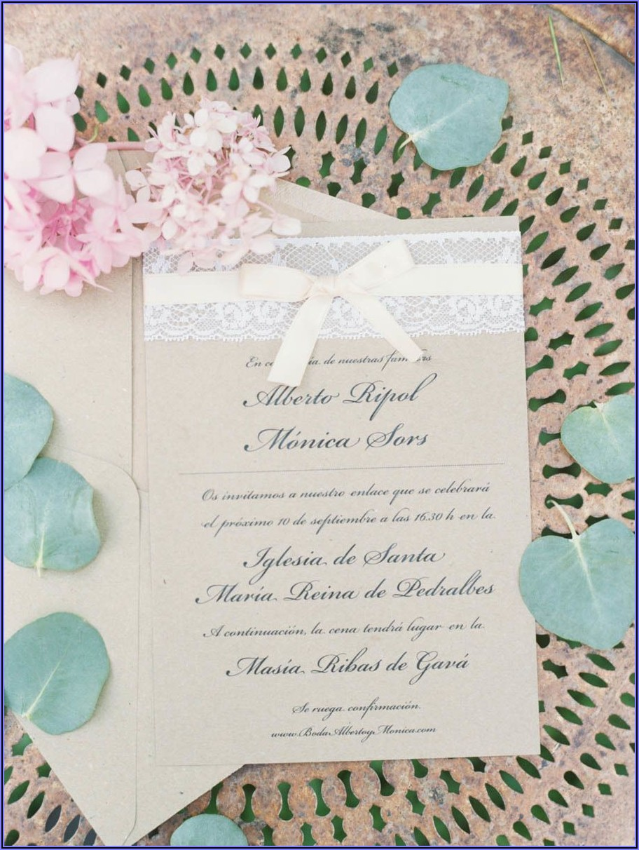 Wedding Invitations Soft Pink And Gold
