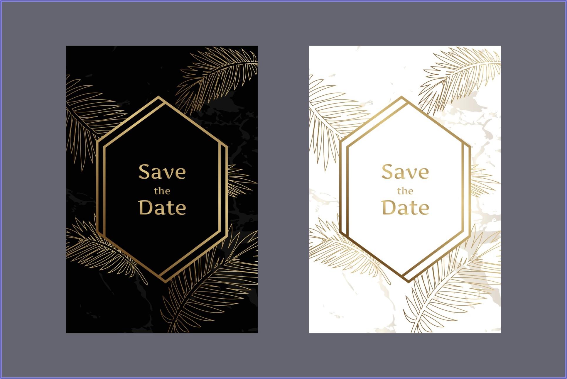 White And Gold Wedding Invitation Background