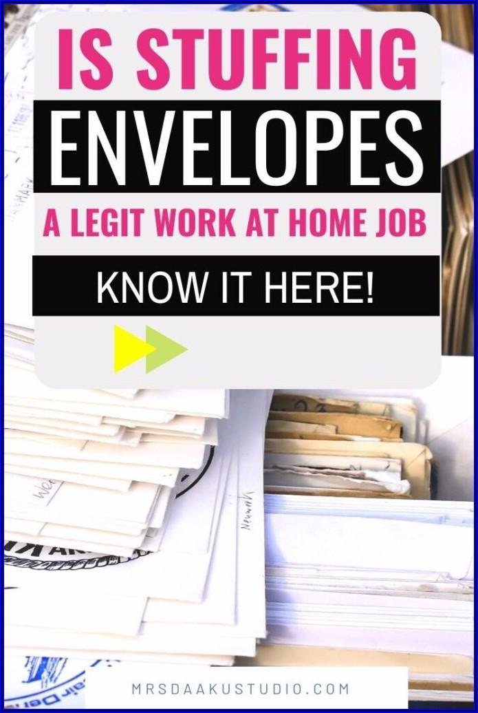 Work From Home Jobs Stuffing Envelopes Uk