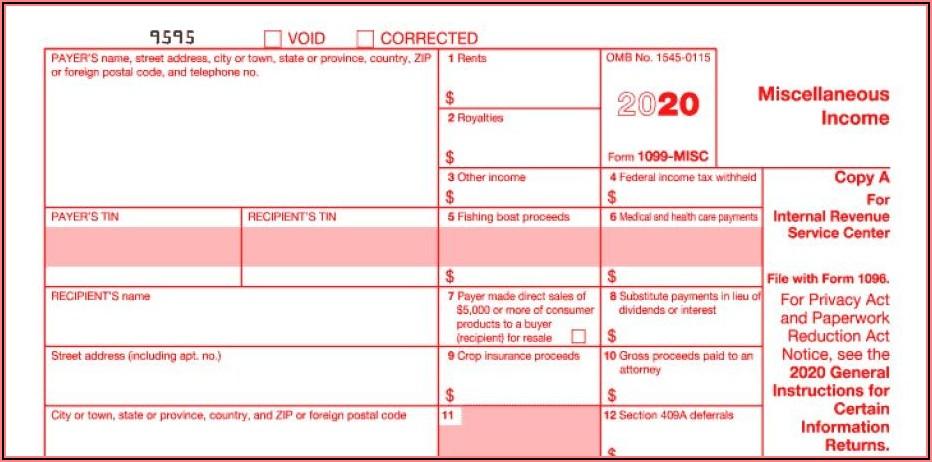 1099 Form Blank 2020