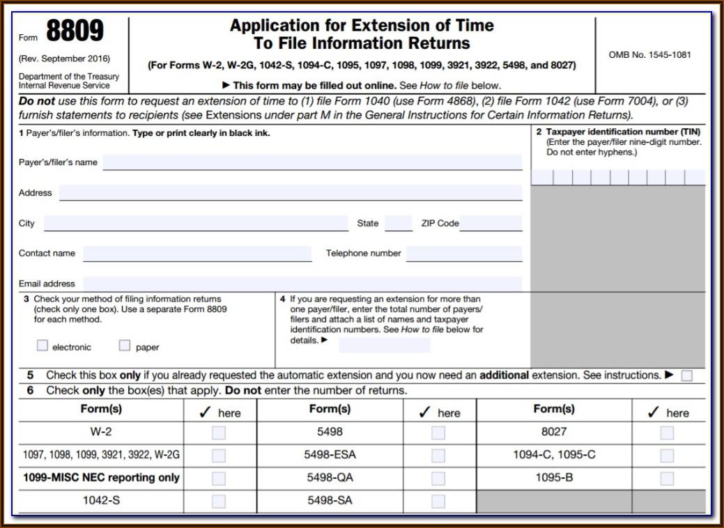 1099 Form Filing Deadline 2019