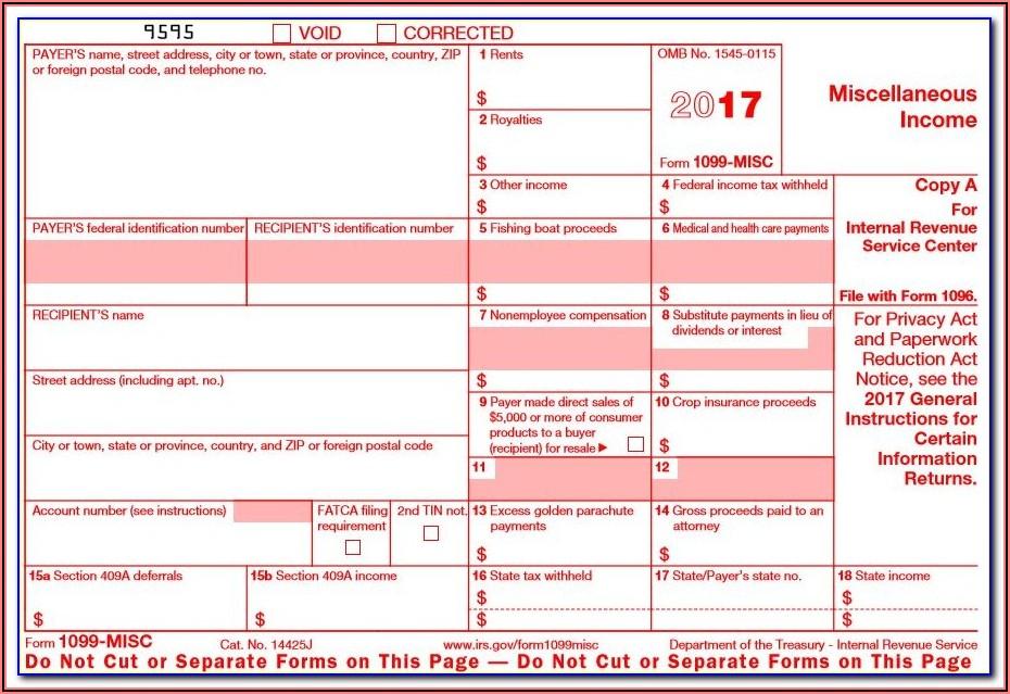1099 Form Free Printable