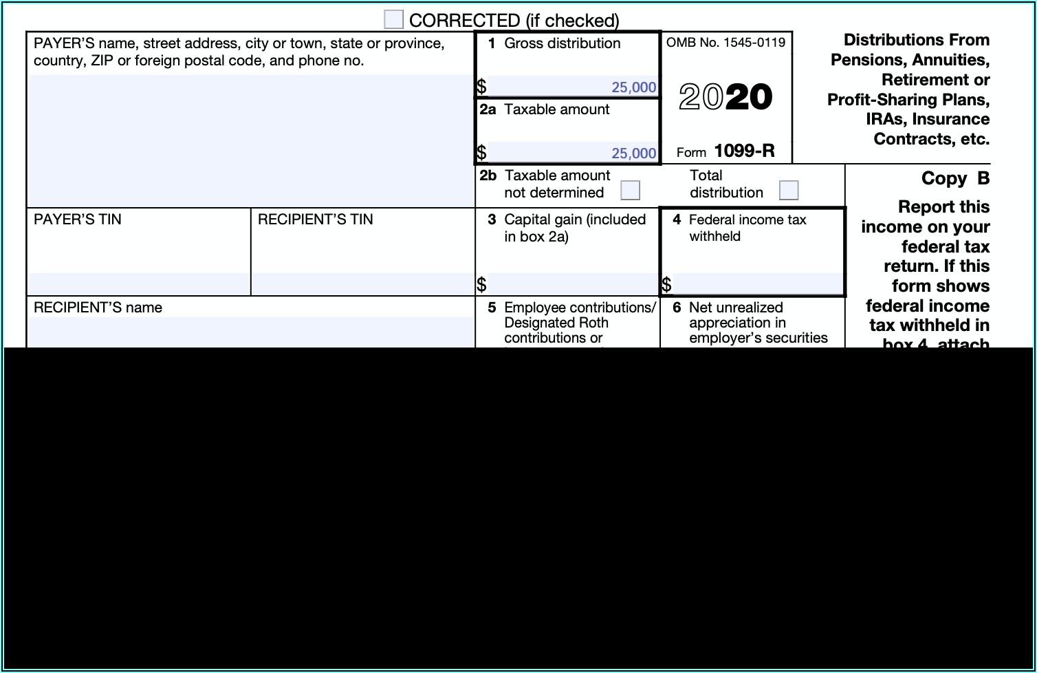 1099 R Form Tax Calculator