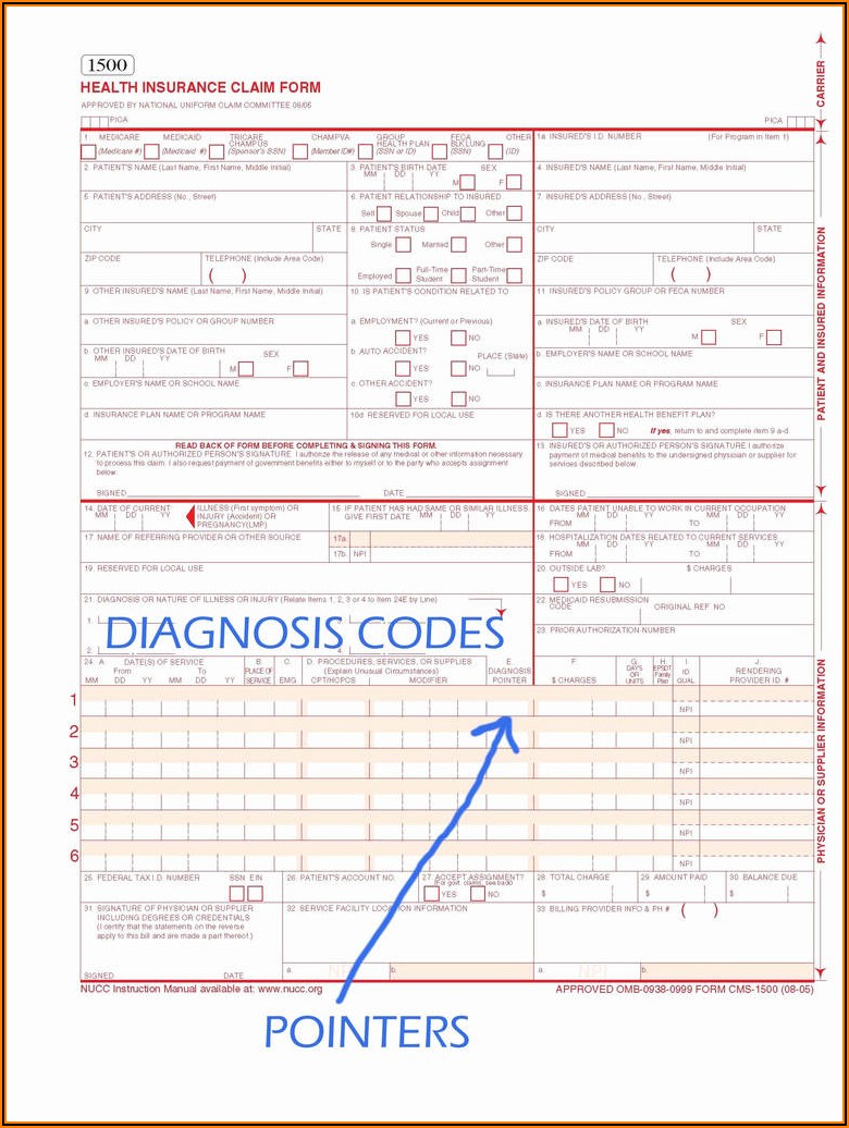 1500 Cms Claim Form Pdf