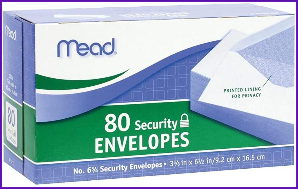 3 12 X 6 Inch Envelopes