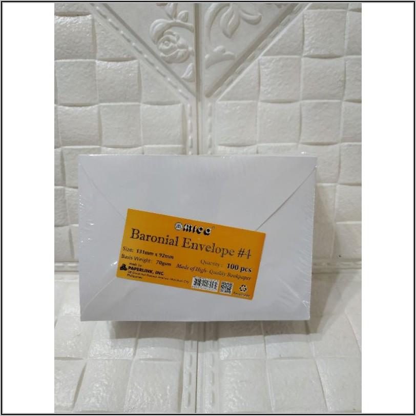 4 Baronial Envelope Size