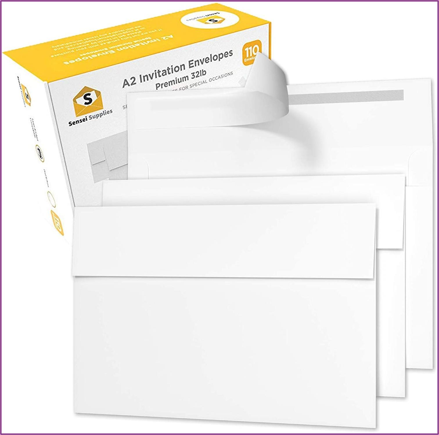 4 X 5 White Envelopes