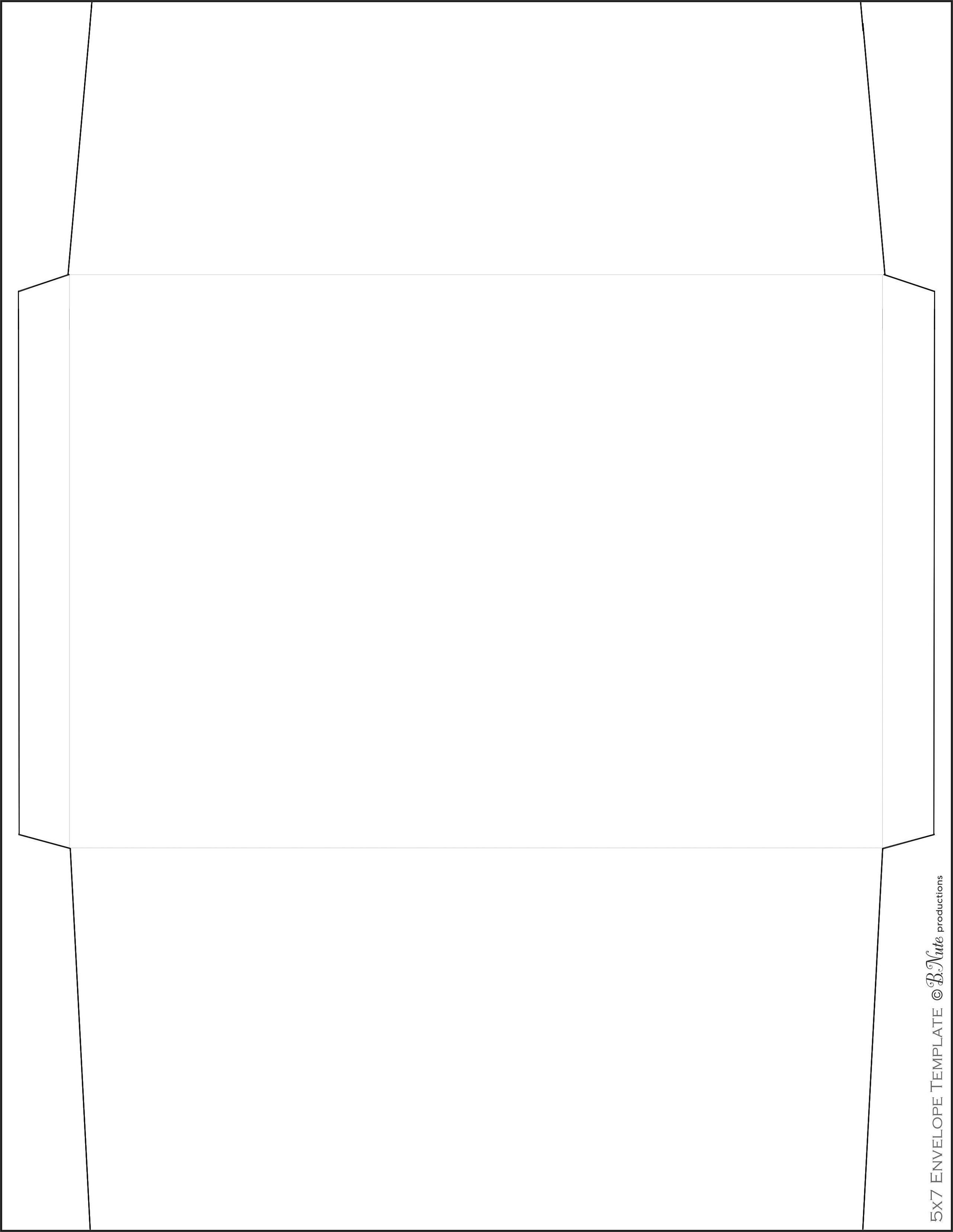 5x7 Envelope Printing Template