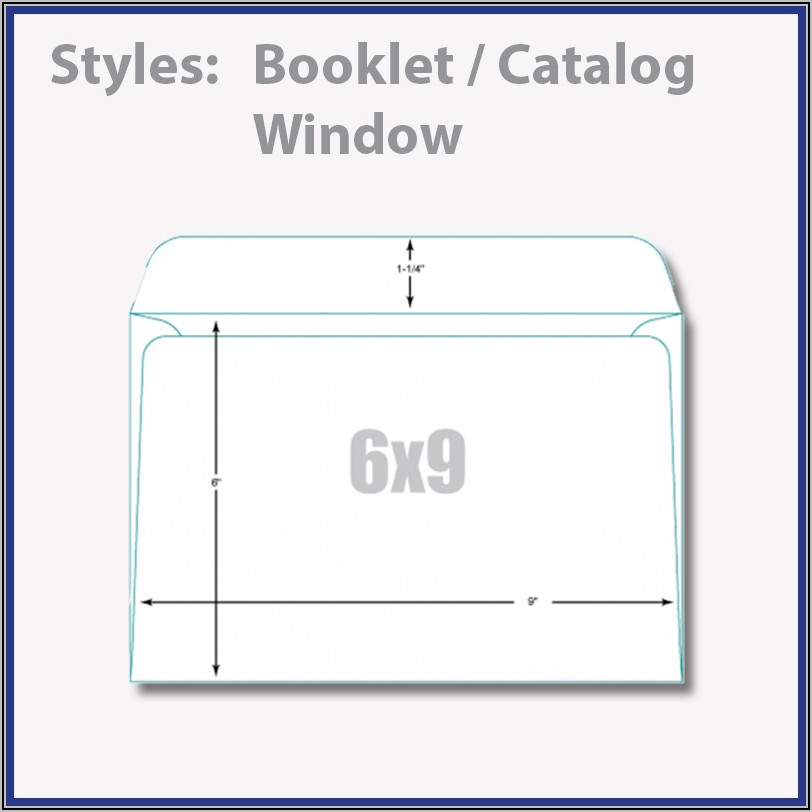 6 X 9 Booklet Envelope Template