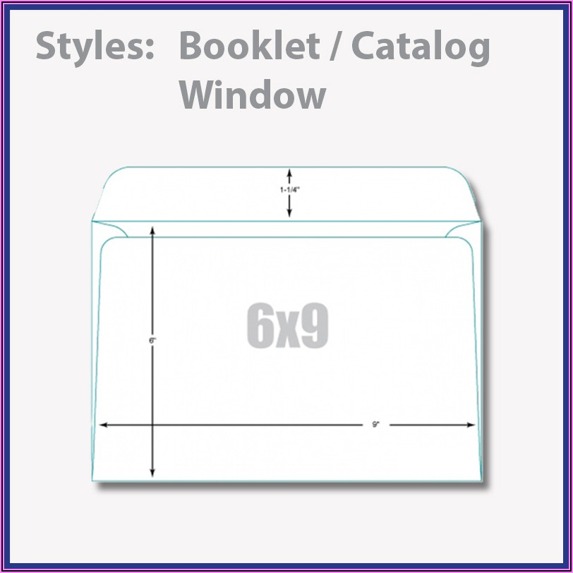 6 X 9 Booklet Window Envelope Template