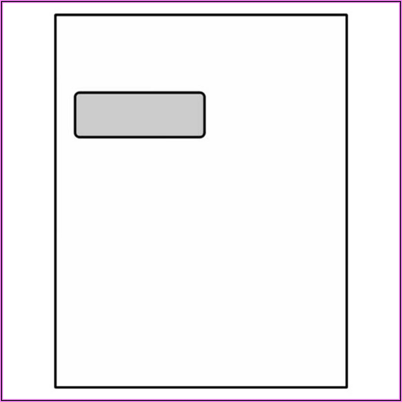 9 X 12 Booklet Window Envelope Template
