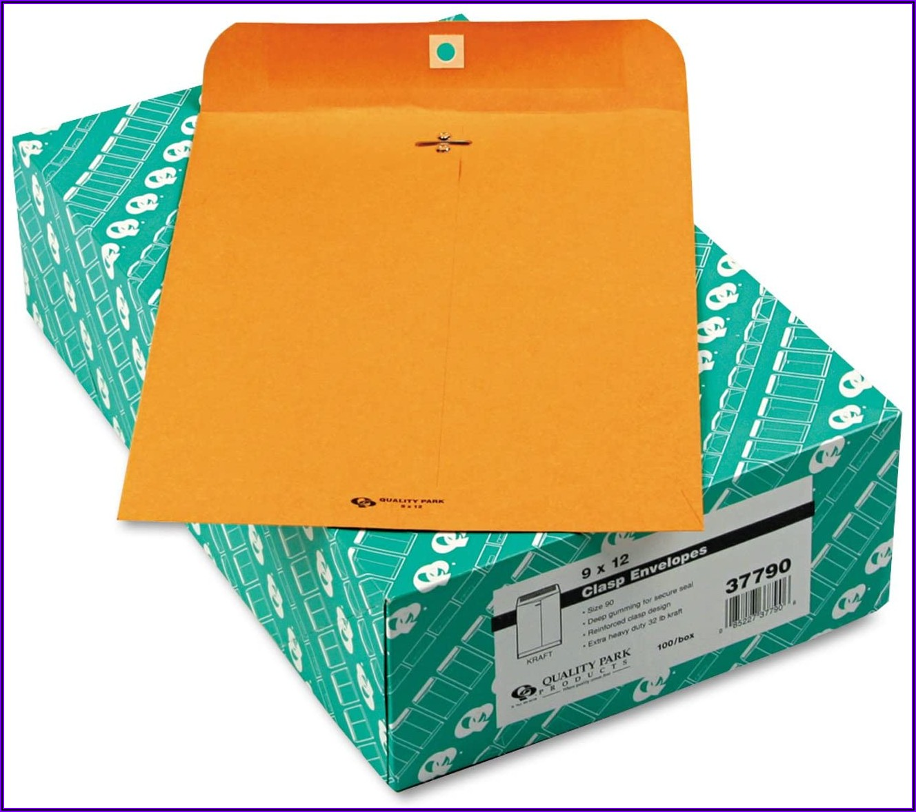 9 X 12 Brown Kraft Clasp Envelopes 100box