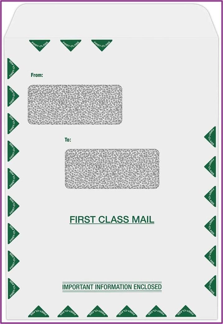 9 X 12 Double Window Envelopes