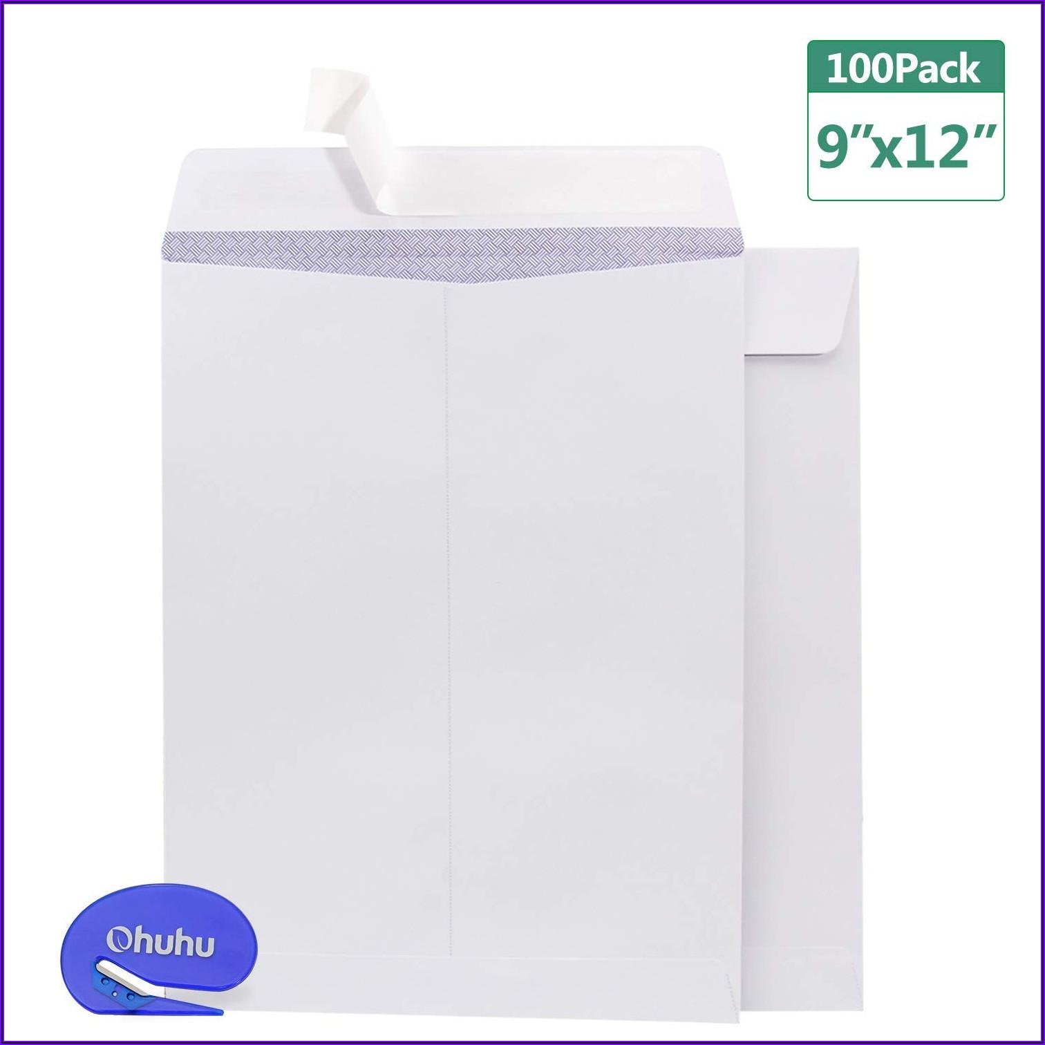 9 X 12 White Security Envelopes