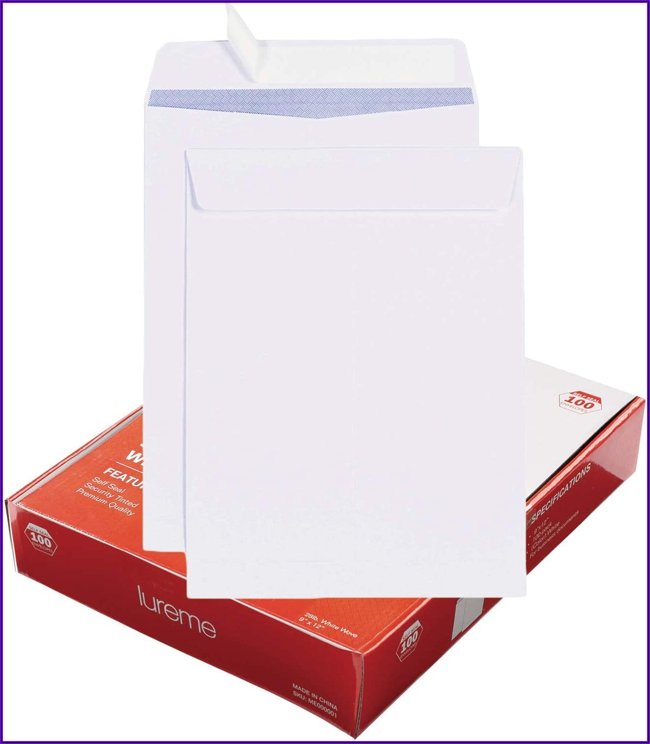 9 X 12 White Self Seal Envelopes