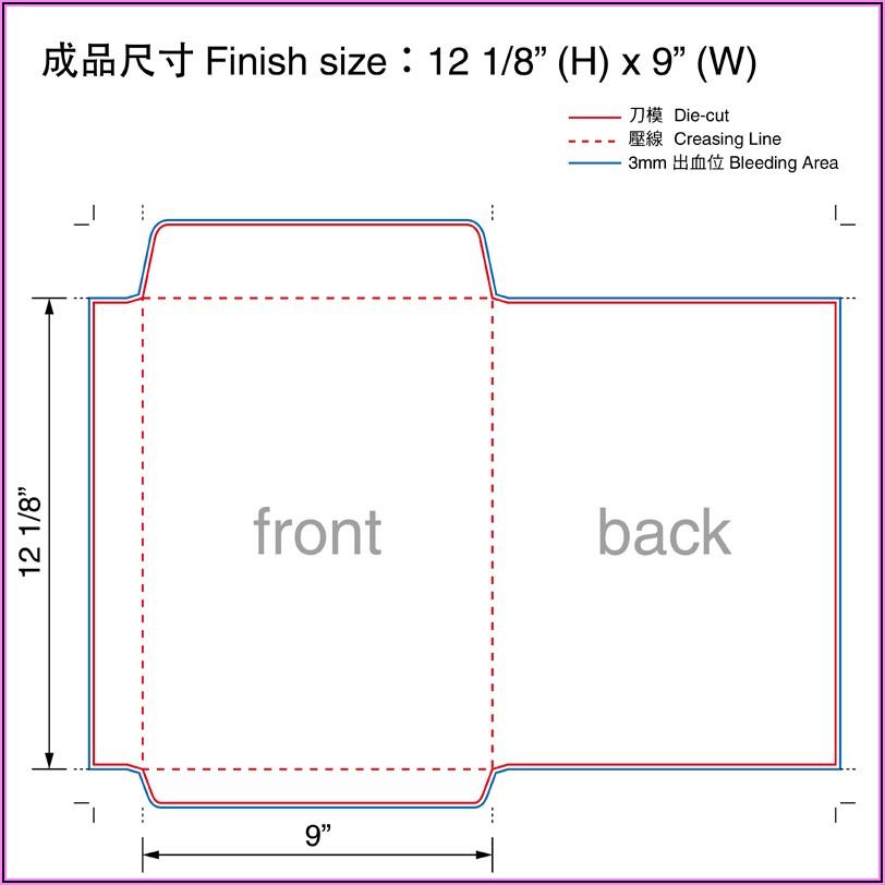 9x12 Catalog Window Envelope Template
